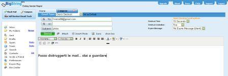 invio e-mail autodistruttive